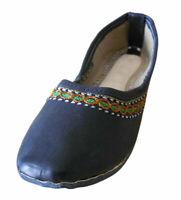 Women Shoes Indian Handmade Jutties Ballerinas Black Flats UK 5.5 EU 38.5