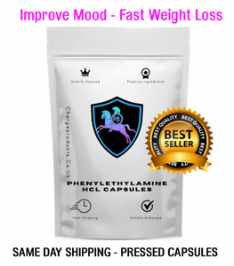 PHENYLETHYLAMINE HCL CAPSULES 500mg Fast Fat Weight Loss Stress Improve Mood