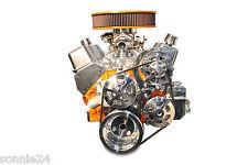 SBC V Drive Pulley Kit, Billet Polished W/ Power Steering Eddie Motorsorts USA