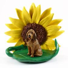 Bloodhound Sunflower Figurine