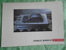 Toyota Starlet Jeans  brochure c1990's