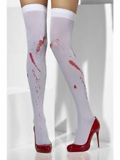 BLOOD STAINED STOCKINGS, ZOMBIE BLOODY WHITE STOCKINGS, HALLOWEEN, FANCY DRESS