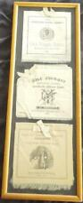 Framed Collection of Antique Yale Editorial Board Dinner Invitations - 1880's