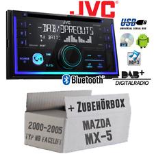 JVC Radio für Mazda MX 2-DIn DAB+ Bluetooth MP3 USB Einbauset Autoradio KFZ PKW