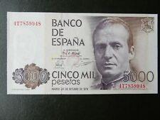 PLANCHA - SERIE 4T - BILLETE DE 5000 PESETAS DE 1979 - JUAN CARLOS I