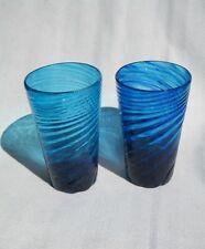 Cobalt Glass Tumbler (Handmade in Okinawa)