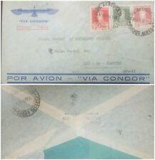 O) 1934 ARGENTINA, AIRMAIL.VIA CONDOR, JOSE DE SAN MARTIN - 5 CENTAVOS RED-10 CE