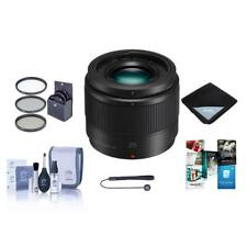 Panasonic 25mm f/1.7 Lumix G Aspherical Lens for Micro 4/3 System - with Bundle