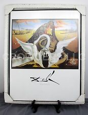 """Salvador Dali 1939 """"Bacchanale"""" Framed Print 22"""" x28"""" Surrealism Leda & the Swan"""
