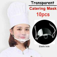 10pcs Transparent Safety Full Face Shield Mask Guard Face Visor Face Mouth Mask