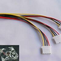 2X Hot 4 Pin Ide 1 Zu 3 Molex Ide Stromversorgung Y Splitter Exentsion  Cab S7M6