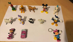 Set Of 12 Disney Mickey Mouse Mini Figures Toys Collectibles Plus A Keyring