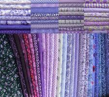 22 Fat Quarters Bundle Purple Shades - 100% Cotton