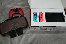 Nintendo Switch 32GB Neon Red/Neon Blue Console - Used Superb Condition + Extras