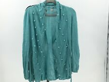 Anthropologie Knitted and Knotted size XS Open Front Cardigan Sweater DI24