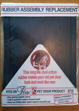 Pride Pet Door Rubber Assembly Replacement Door Flap Nib - Size Medium