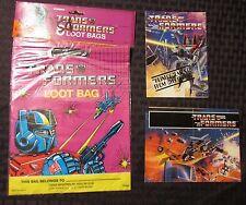 1984 Hasbro TRANSFORMERS 8 Loot Bags SEALED w/ Bonus
