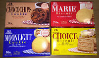 Morinaga Japan Long Sellers Cookie,  Biscuit and Sable, 4 Kinds,