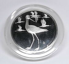 Robert's Birds AVOCETS 2 oz Proof Sterling Silver Coin Franklin Mint Medal FM