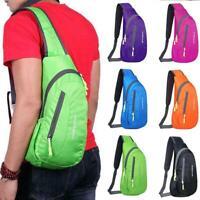 Waterproof Nylon Chest Bag Pack Travel Sport Shoulder Sling Backpack Cross Body
