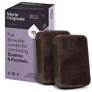 (2-Pack) Marie Originals Eczema Face Soap Body Wash Natural Psoriasis Treatment