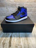Nike Air Jordan 1 Mid Hyper Royal Blue Black Size 10 Men 554724 077 New in Box