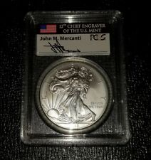 2013 $1 Silver Eagle First Strike  MS70 MERCANTI (12th Chief Engraver)!  #003