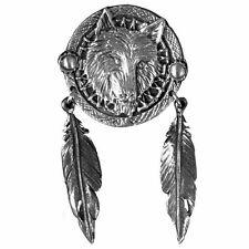 Pin's Biker épinglette loup plume indien country wolf indian blouson veste badge