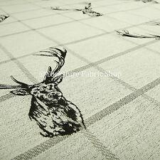10 metri di animale cervo testa motivo grigio beige tessuto qualità FODERA
