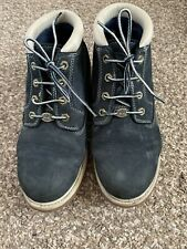 TIMBERLAND LEATHER LACE UP NAVY BOOTS - SIZE 6