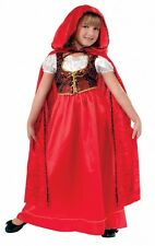 Girls Deluxe Little Red Riding Hood Costume Fairy Tale Storybook Size Md 8-10