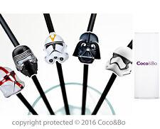 Coco&Bo 10 x Star Wars Villains Party Straws Darth Vader Kylo Ren Storm Trooper