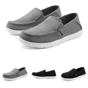 Mens Canvas Pumps Loafers Shoes Slip on Flats Driving Moccasins Breathable New D