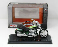 Modell Motorrad 1:18 HarIey Davidson 2004 FXSTDSE2 CVO metallic grün Maisto