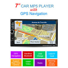 "Autoradio 7"" 1 DIN GPS-Navigation MP5 USB Radio Bluetooth Stereo TOUCHSCREEN ."