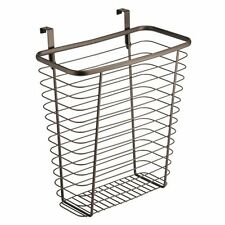 InterDesign Axis Over the Cabinet Wastebasket Trash Can or Storage Basket for Ki