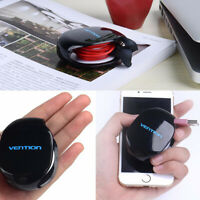 Vention Auto Cable Cord Organizer Winder Holder Headphones USB Earphone Black