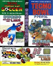 Tecmo Bowl World Cup Soccer Head On FC GB JAPANESE GAME MAGAZINE PROMO CLIPPING