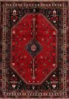 Tribal Abadeh Animal Design Area Rug Wool Hand-Knotted Nomad Oriental Carpet 7x9