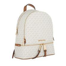 Michael Kors 100% RHEA Vanilla Backpack Rucksack Bag MK Signature NEW & TAGS
