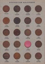 Half Penny Set Australia inc varieties no 1923 one  B-249