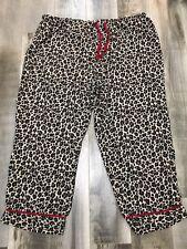 Adonna Cheetah Animal Print Pj Pajama Bottoms Womens Plus 3X