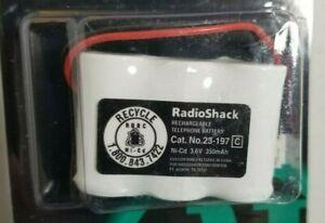 NOS RadioShack Cordless Telephone Rechargeable Battery - 3.6V 300mAh, 23-197 C2