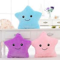 Luminous Pillow Star Cushion Colorful Glowing Led Light K5B7 Toys N8P8 F W7G5