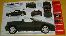 1991 Lotus Elan SE Convertible 1588cc 4 Cylinder Turbo MPFI Info/Spec/photo 15x9