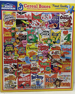White Mountain 1000 pc Jigsaw Puzzle GENERAL MILLS CEREAL BOXES Larger Pieces