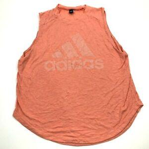 Adidas Shirt Size Extra Large XL Adult Orange Tank Top Sleeveless Gym Fitness