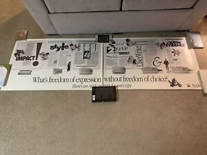 "Vintage Apple Macintosh 1991 Freedom of Expression Advertisement 24"" X 73.5"""