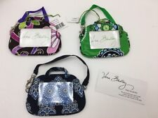 Vera Bradley Retired Set Of 3 Cupcakes Green Purple Punch Blue Luggage Id Tags