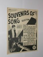 Souvenirs Of Song Collection Arranged By Horatio Nicholls. Original Sheet Music.
